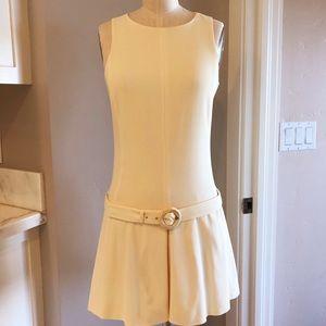☆ Prada Sleeveless Open-Back Belted Waist Dress ☆